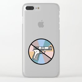No Guns 1 Clear iPhone Case