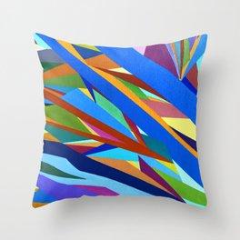 Blue River I Throw Pillow