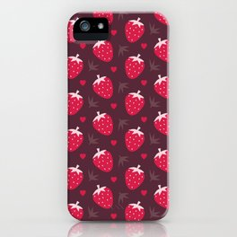 STRAWBERRIES AND CHOCOLATE iPhone Case