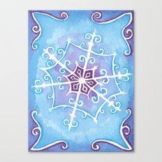 Watercolor Snowflake Canvas Print