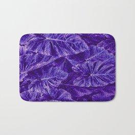 Purple Tropical Layered Leaves Bath Mat