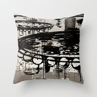 architect Throw Pillows featuring Architect Invader by Paul Prinzip