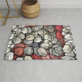 Chaotic 3D Cubes Rug