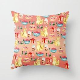 Watercolor Love doodles Throw Pillow