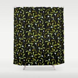 Rustic Mistletoe Shower Curtain