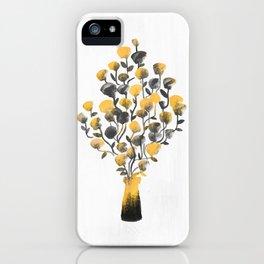 Golden Flower In A Vase iPhone Case