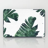 banana leaf iPad Cases featuring Banana Leaf Watercolor Pattern #society6 by 83 Oranges™
