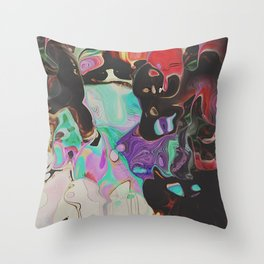 Abstract Distractions Throw Pillow