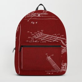 Guitar Patent - blood red Backpack