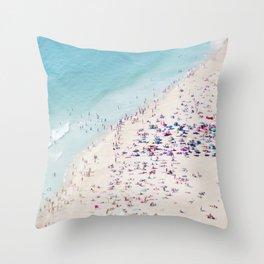 beach - summer love Throw Pillow