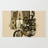 cafe racer Area & Throw Rugs featuring cafe racer by Liviu Antonescu