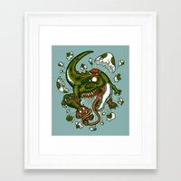 the mortal instruments Framed Art Prints featuring Mortal egg by Adrian Filmore