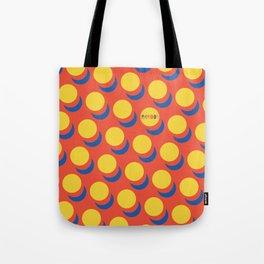 Wanna-Be Roy Lichtenstein Pattern & Letterform Tote Bag