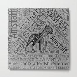 American Staffordshire Terrier - Amstaff Metal Print