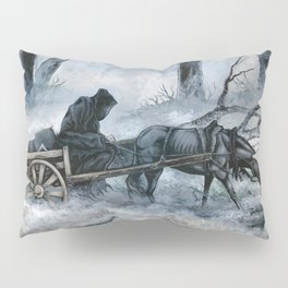 Grim Reaper with Horse in the Woods Pillow Sham