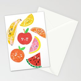 Eat fruits or they will eat you Stationery Cards