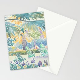 Garden of the Painter at Saint Clair by Henri-Edmond Cross 1908, French Stationery Cards