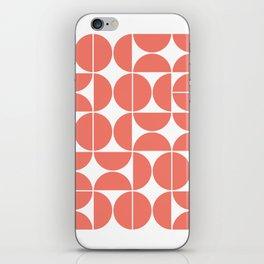 Mid Century Modern Geometric 04 Living Coral iPhone Skin