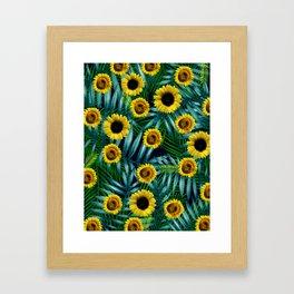 Sunflower Party #2 Framed Art Print