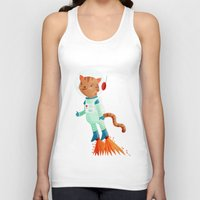 space cat Tank Tops featuring Space Cat by Stephanie Fizer Coleman