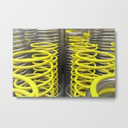 Plastic and metal springs and coils Metal Print