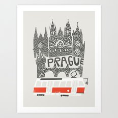 Prague Cityscape Art Print