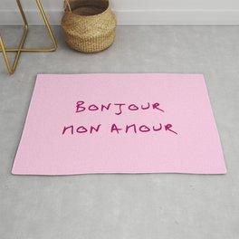 Bonjour mon amour - 1 pink Rug