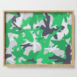 Camouflage military background. Serving Tray