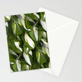 Beautiful Variagated Green Leaves Nature #decor #society6 #buyart Stationery Cards