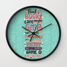 Read Books Wall Clock