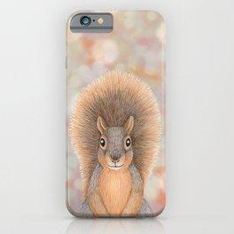 fox squirrel woodland animal portrait iPhone Case