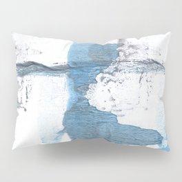 Blue hand-drawn watercolor Pillow Sham