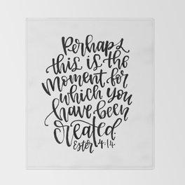 Ester 4:14 Throw Blanket