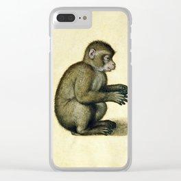 Albrecht Durer - A Monkey Clear iPhone Case