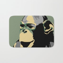 Retro Zoo Berlin monkey travel advertising Bath Mat