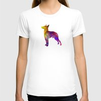 manchester T-shirts featuring Manchester Terrier in watercolor by Paulrommer