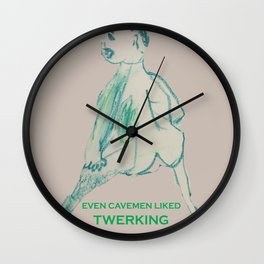 Even Cavemen Liked Twerking Wall Clock
