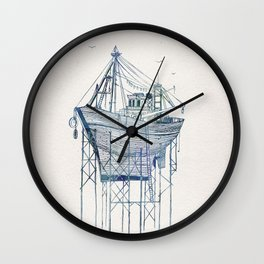 Dry Dock I Wall Clock