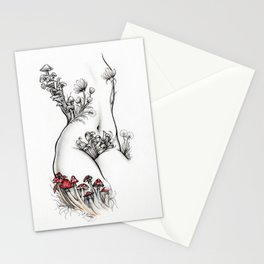 Billy Torso with Red Toadstools Stationery Cards