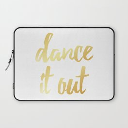 Dance It Out- Gold Laptop Sleeve