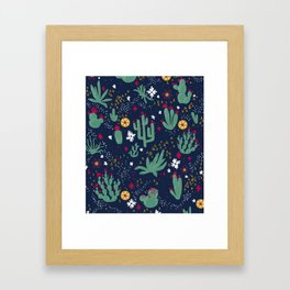 Cactus Blossoms  Framed Art Print