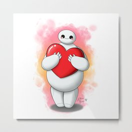 Baymax with heart (without text) Metal Print