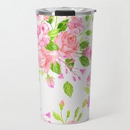 English Rose Pattern 01 Travel Mug