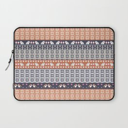 Fair Isle Christmas Guinea pig Pattern Laptop Sleeve