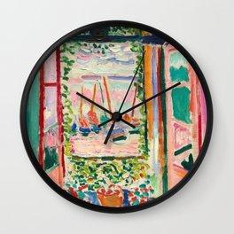 Open Window by Henri Matisse Wall Clock