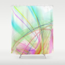 Atmospheric - 02 Colorful Abstract Art Shower Curtain
