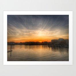 Sunset Over Bay II Art Print