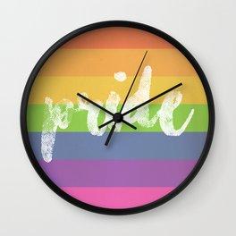 LGTB pride Wall Clock