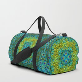 Peacock Feathers - Blue Duffle Bag