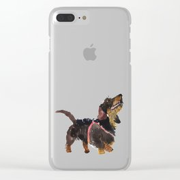 watercolor dog vol 9 dachshund Clear iPhone Case